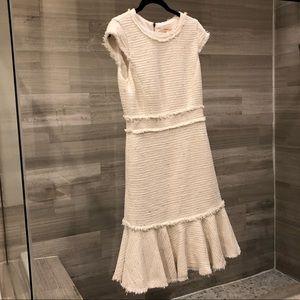 Rebeca Taylor white tweed dress